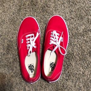 Vans Men size 13 Red &White Brand New